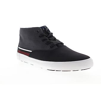 Ben Sherman Percy Mens Black Canvas Lace Up Low Top Sneakers Chaussures