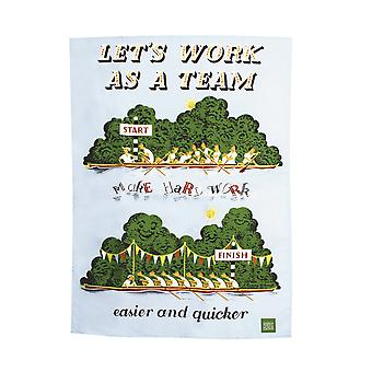 Lets Work As A Team Tea Towel - The Postal Archive Collection