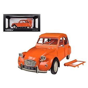 1975 Citroen 2Cv 6 Orange 1/18 Diecast Car Model By Norev