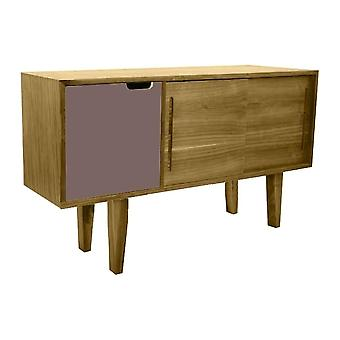 Fusion Living Modern Retro Oak And Grey Mid Sideboard