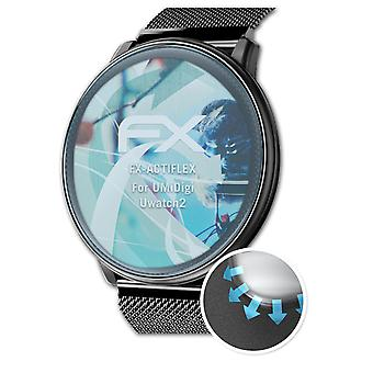 atFoliX 3x Protective Film compatible with UMiDigi Uwatch2 Screen Protector clear&flexible