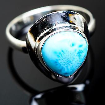 لاريمار خاتم حجم 13.5 (925 الجنيه الاسترليني الفضة) -- اليدوية بوهو خمر مجوهرات RING993878