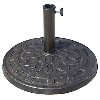 Outsunny 14kg Durable Patterned Colophony Garden Patio Umbrella Round Base Stand New