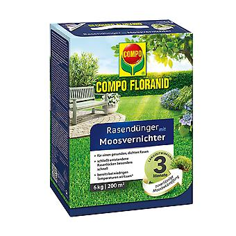 COMPO Floranid® lawn fertilizer with moss destroyer, 6 kg