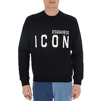 Dsquared2 S79gu0001s25042968 Män's Black Cotton Sweatshirt