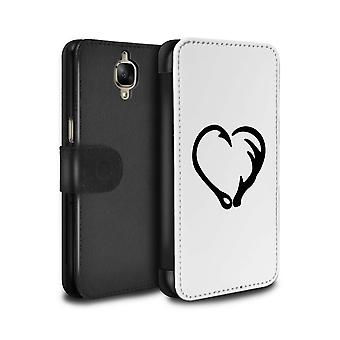 STUFF4 PU Leather Wallet Flip Case/Cover for OnePlus 3/3T/Magical Fish Hook Heart/Cartoon Polynesian Princess