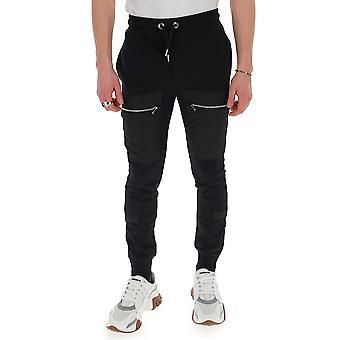 Les Hommes Lij01753n9000 Men's Black Polyester Pants