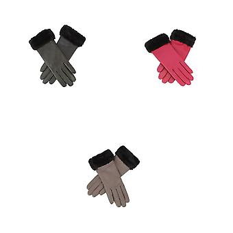 Eastern Counties Leather Womens/Ladies Debbie Faux Fur Cuff Gloves
