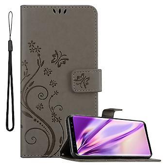 Cadorabo tapauksessa Samsung Galaxy S9 tapauksessa kattaa - puhelimen tapauksessa kukka suunnittelu magneettilukko, seistä toiminto ja 3 kortin osastojen tapauksessa kotelo