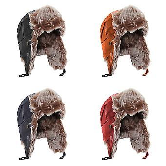 Result Unisex Classic Thermal Winter/Ski Sherpa Trapper Hat