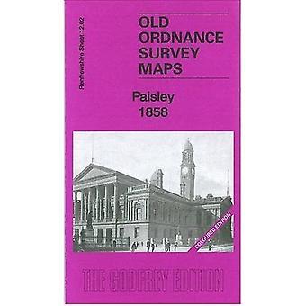 Paisley 1858: Renfrewshire täcker 12.02a (Gammal ordnancegranskning kartlägger av Renfrewshire)