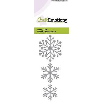 CraftEmotions يموت -- الثلج ، بطاقة بلورات 5x10cm
