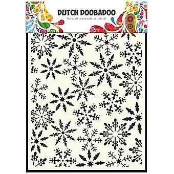 Dutch Doobadoo A5 Mask Art Stencil - Ice Stars #5030