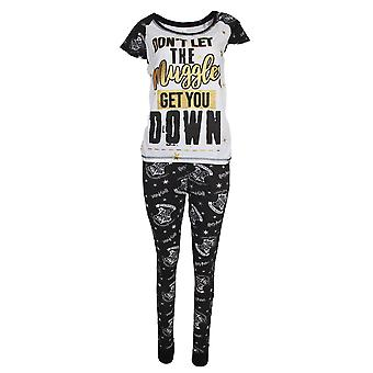 Harry Potter Womens/Ladies Dont Let The Muggles Get You Down Cotton Pyjama Set