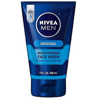 Nivea men moisturizing face wash, original, 5 oz