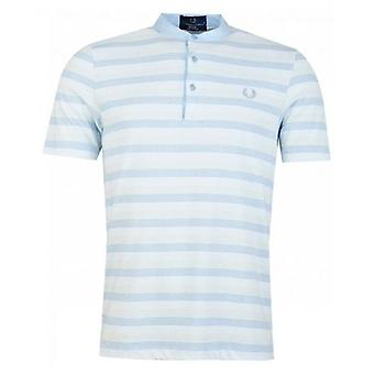 Fred Perry Re-issues Collarless Striped Pique T-Shirt