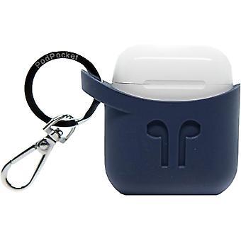 PodPockets Scoop AirPod Storage Case - Indigo Blue