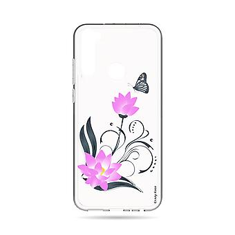 Hull For Xiaomi Redmi Note 8t Soft Lotus Flower And Butterfly