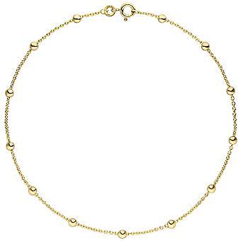 الكاحل الكاحل القصدير تان 333 الذهب الذهب الأصفر 25 سم سلسلة ذهبية carabiner