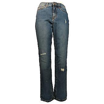 Denim & Co. Damen's Classic Denim Knöchel Jeans Blau A304472