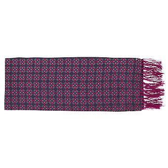 Michelsons of London Narrow Bold Medallion Silk Scarf - Pink