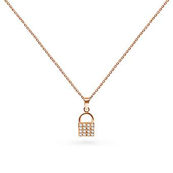 Colar Diamante Lock 18K Ouro