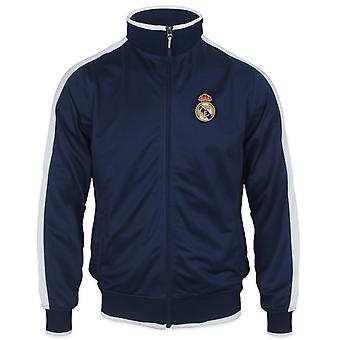 Real Madrid Official Football Gift Boys Retro Track Top Jacket