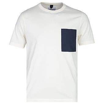 Albam Nylon Brusttasche Ecru Kurzarm T-Shirt