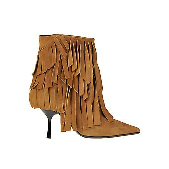 Ncub Ezgl391016 Women's Brown Suede Ankle Boots