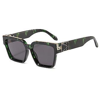 Brede luxe zonnebrillen in Limited Edition Groen Zwart