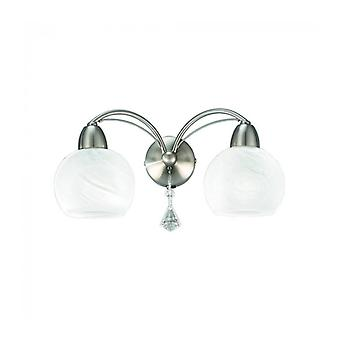 Thea 2-light Satin Nickel Wall Light