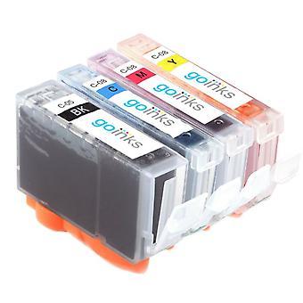 1 4 mustekasettia Korvaamaan Canon SGI-5 & CLI-8 Yhteensopiva/muu kuin OEM Go Inksistä (4 mustetta)