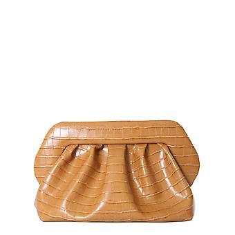 Themoirè Tmf20br2 Women's Brown Polyurethane Clutch