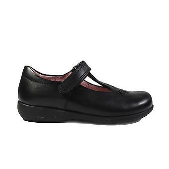 מוצרי עור שחורים בנות שחור-בר לבוש הספר נעליים