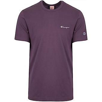 Champion Käänteinen Kutoa Lilac Logo T-paita