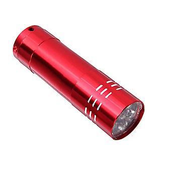 rask tørking manikyr verktøy med mini 9 LED lys lommelykt UV lampe - bærbar spiker gel maske