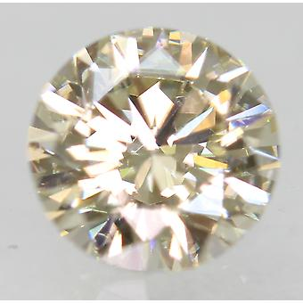 Certified 0.70 Carat K Color VVS1 Round Brilliant Natural Diamond 5.63mm 3EX