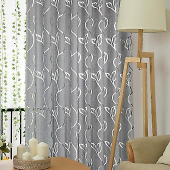 Modern Vines Leaves Tulle Door Window Curtain