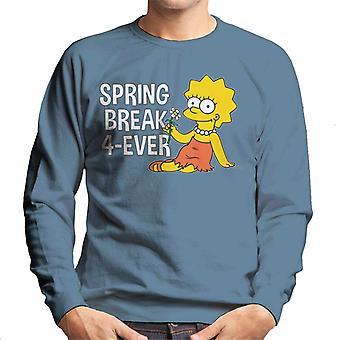 A camisola dos Simpsons Spring Break 4ever Lisa para homem