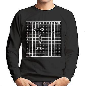 Hasbro Battleship Ship Positions Men's Sweatshirt