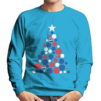 Pepsi Weihnachtsbaum Dots Männer's Sweatshirt