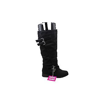 Xoxo Womens Leer Ronde Teen Knie High Fashion Boots