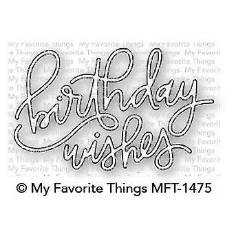 My Favorite Things Birthday Wishes Die-Namics