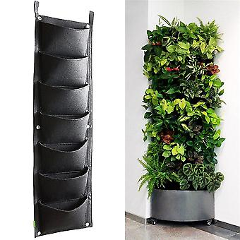 Wall Mounted Flower Pots - Vertical Hanging Planting Bags Pouch for Balcony Wall Decor