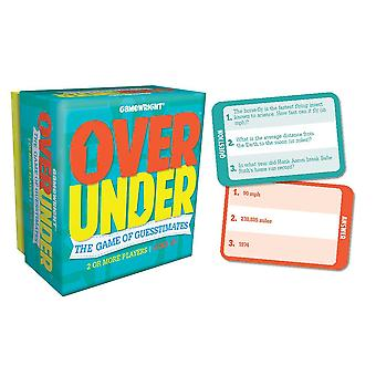 Games - Ceaco Gamewright - Over/Under Kids New Toys 1105d