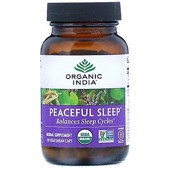 Organic India, Peaceful Sleep, 90 Vegetarian Caps