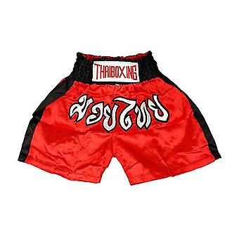 Adults Boxing Pants Satin Red Blackstrip