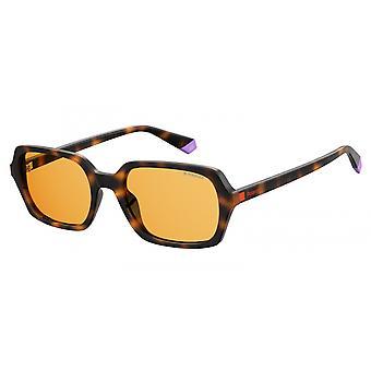 Lunettes de soleil femmes 6089/Shjv/HE marron avec verre cuivre