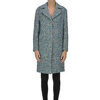 Ermanno Scervino Ezgl078064 Women's Blue Wool Coat