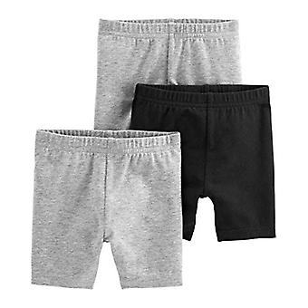 Simple Joys by Carter's Girls' 3-Pack Bike Shorts, Black, Gray, 12 Months